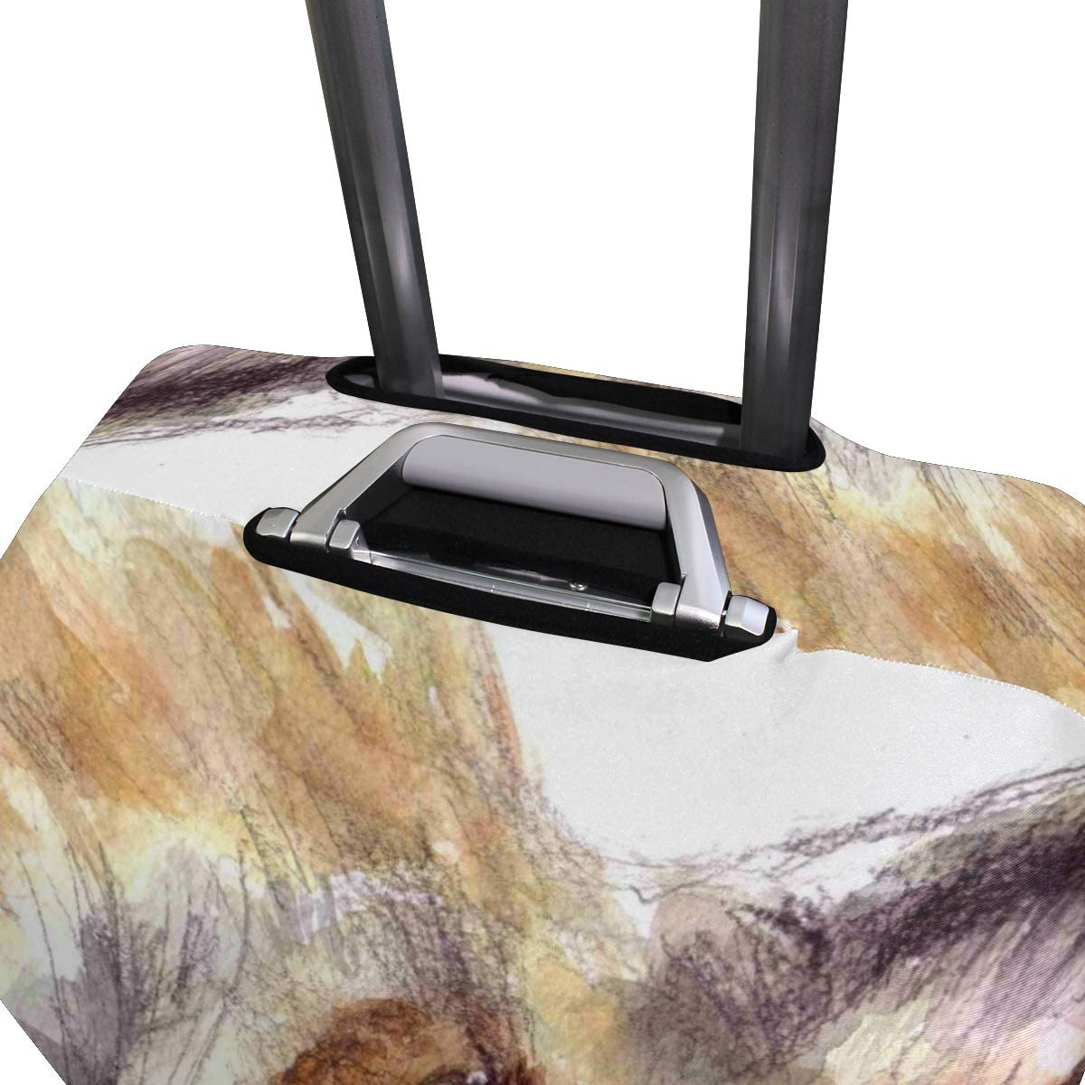 18//22//26//29 Inch Travel Suitcase Luggage Protective Cover with Wolf Head Pattern