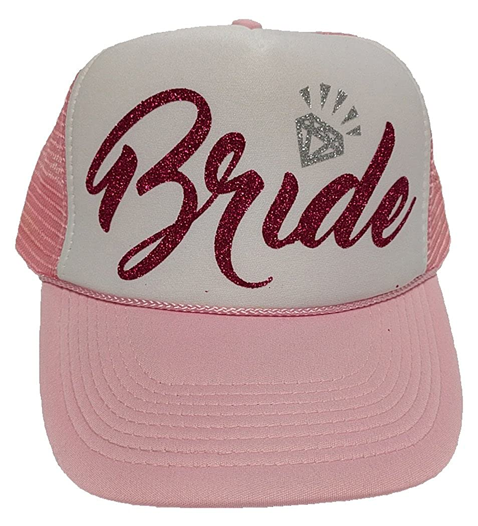 0623e3445b3 Bride Hats are Light Pink with White Panel Front  Tribe Hats are Solid  Light Pink  Lots of great glitter heat transfer vinyl colors to choose from