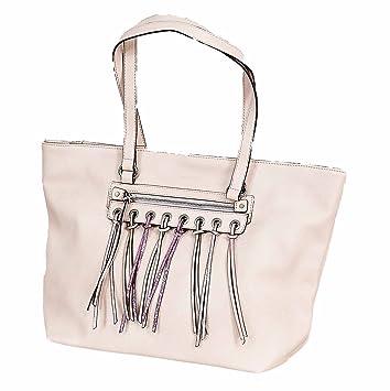 sélection premium d699a 5c653 Sacs à main Francinel - Sac shopping franges rose: Amazon.fr ...