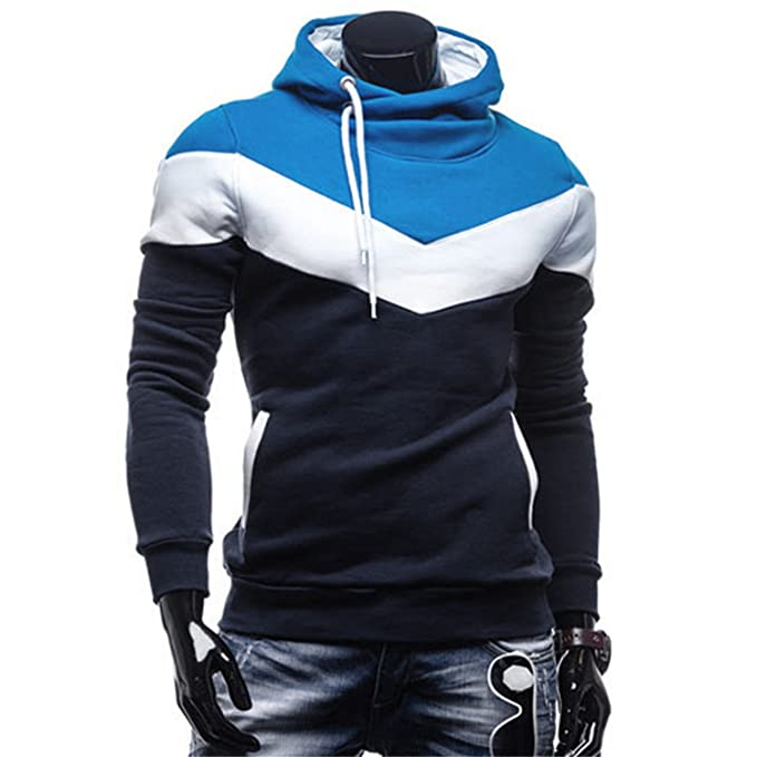 Sonjer Fashion Autumn Winter Men Hoodie Sweatshirt Long Sleeve Tops Shirt Sweatshirts Pullover Sweatshirt Male Coats