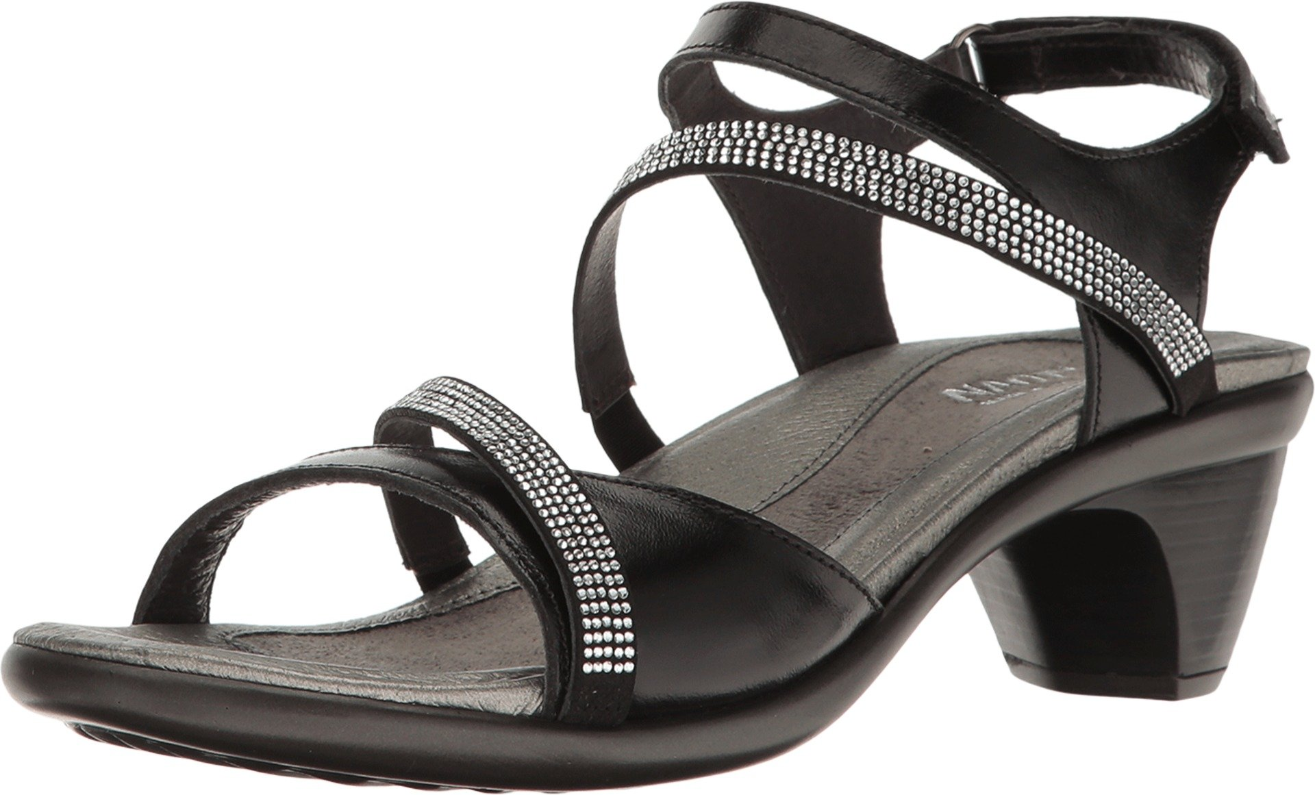 Naot Women's Innovate Sandals, Black, Leather, Microfiber, Latex, Cork, 42 M EU, 11-11.5 M