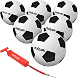 """""""GoSports Playground Soccer Ball 6 Pack   Indestructible Rubber Constructions for Play on Any Surface   Includes Ball…"""