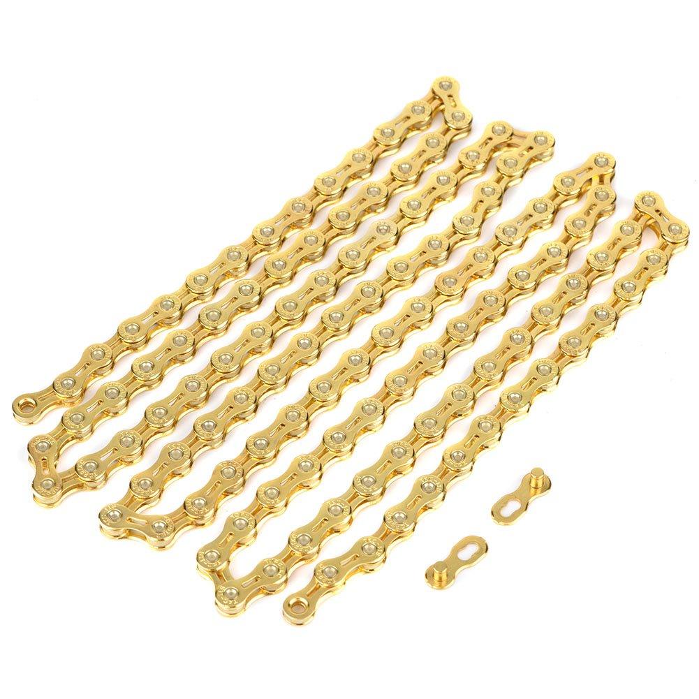 ULTRALIGHT TinkSky Gold 116/Glieder Kette Ersatz f/ür Fixed Gear Rennrad Fahrr/äder 11speed vgeby Fahrrad Kette