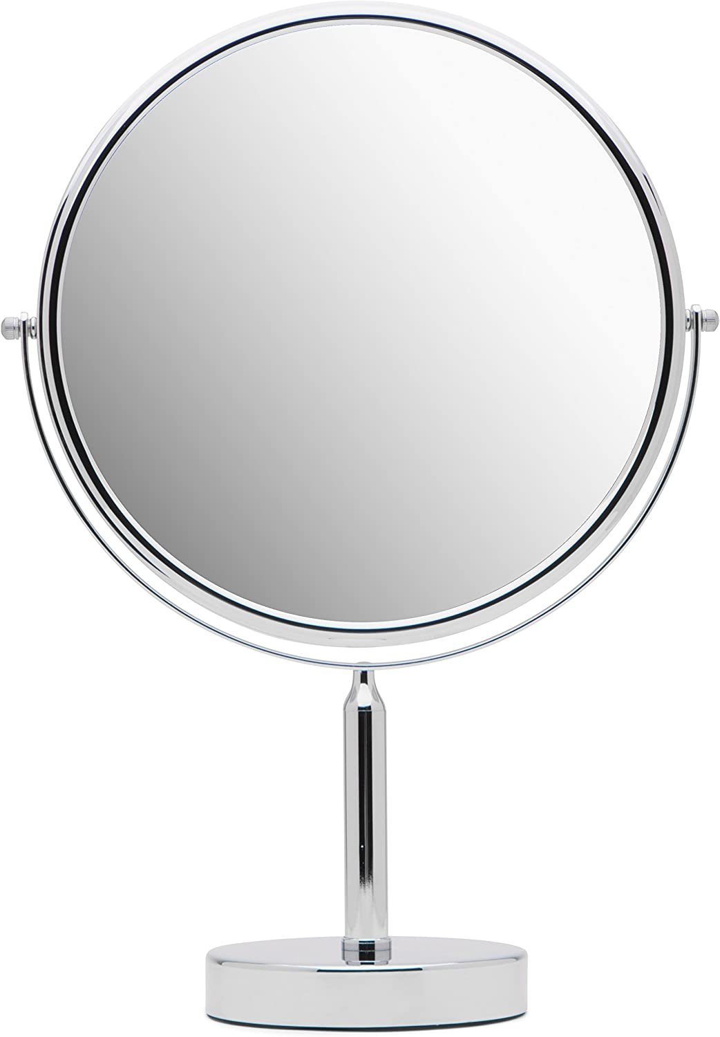 """Mirrorvana XXLarge 11-Inch Oversized Magnifying Makeup Mirror with Stand, Double Sided 3x/1x Magnification, 17"""" Height"""