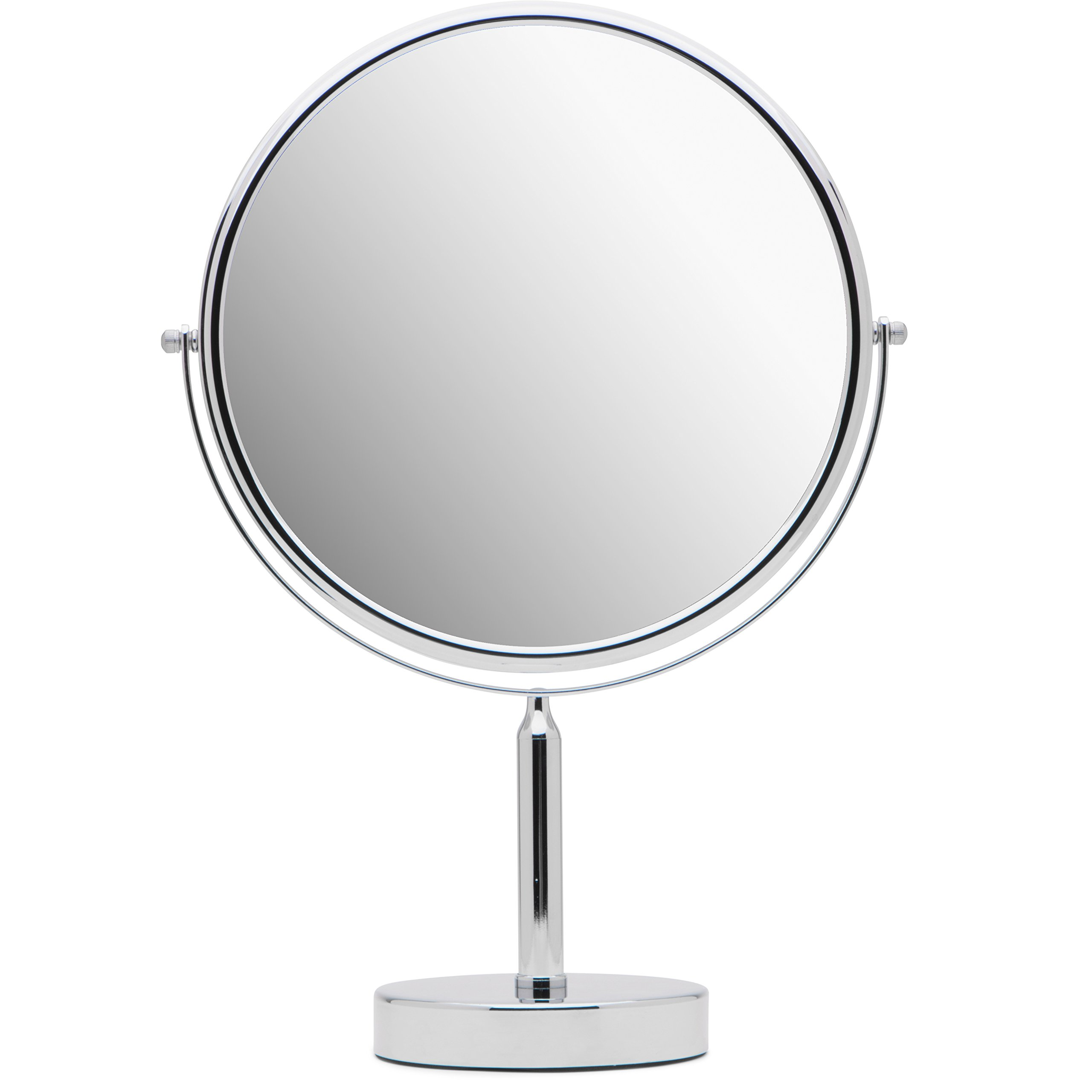 Mirrorvana XXLarge 11-Inch Oversized Magnifying Makeup Mirror with Stand, Double Sided 3x/1x Magnification, 17'' Height