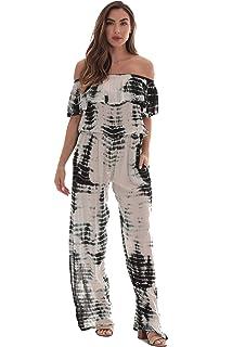 068befc3f70 Riviera Sun Tie Dye Off Shoulder Jumpsuit for Women Beach Swimsuit Cover Up
