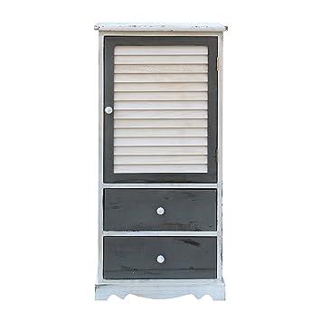 Mobili Rebecca Armario Mueble Multiuso 1 Puerta 1 Cajon Design Estilo Vintage Madera Dormitorio Bano - 90x42x32 (A x AN x FON) - Art. RE6076: Amazon.es: ...