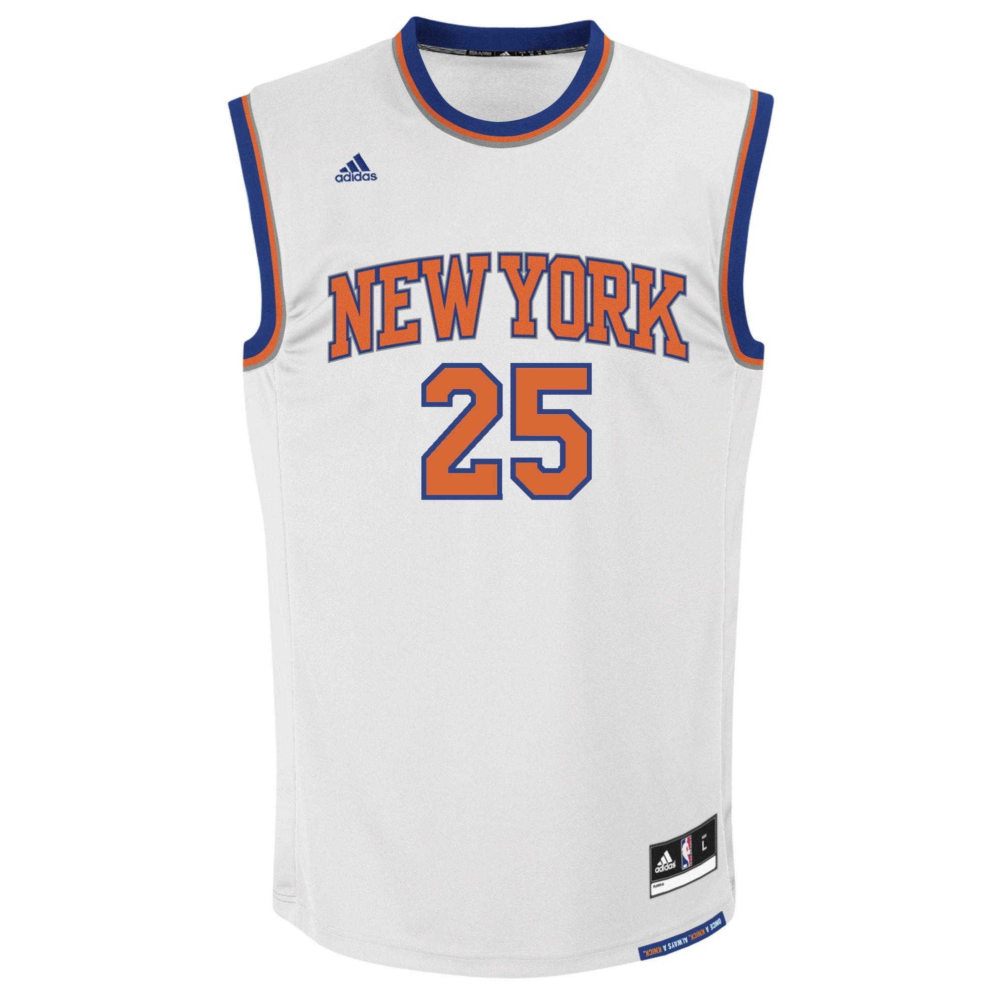 buy popular e3f3f e9db2 NBA Men's New York Knicks Derrick Rose Replica Player Home Jersey, Small,  White