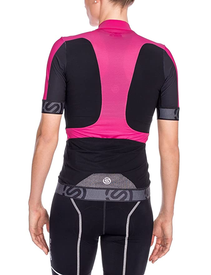 Amazon.com   Skins Cycle Women s Tremola Jersey Short-sleeve Black Pink  Medium   Sports   Outdoors 8fd02953a