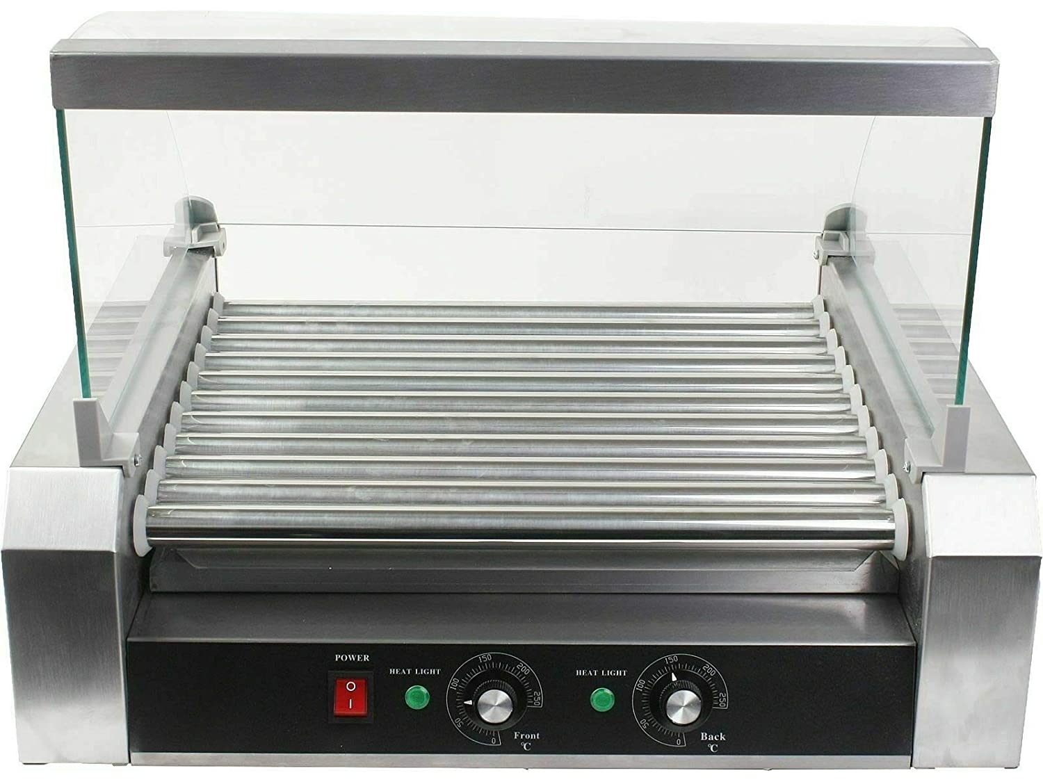 Home Rich Roller 30 HotDog Grill Cooker Hot Dog 11 Roller Machine Grill Machine W/cover CE New Electric Warmer Stainless