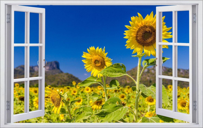 Sonnenblumen Pflanze Wiese Wandtattoo Wandsticker Wandaufkleber F0336 Größe 120 cm x 180 cm