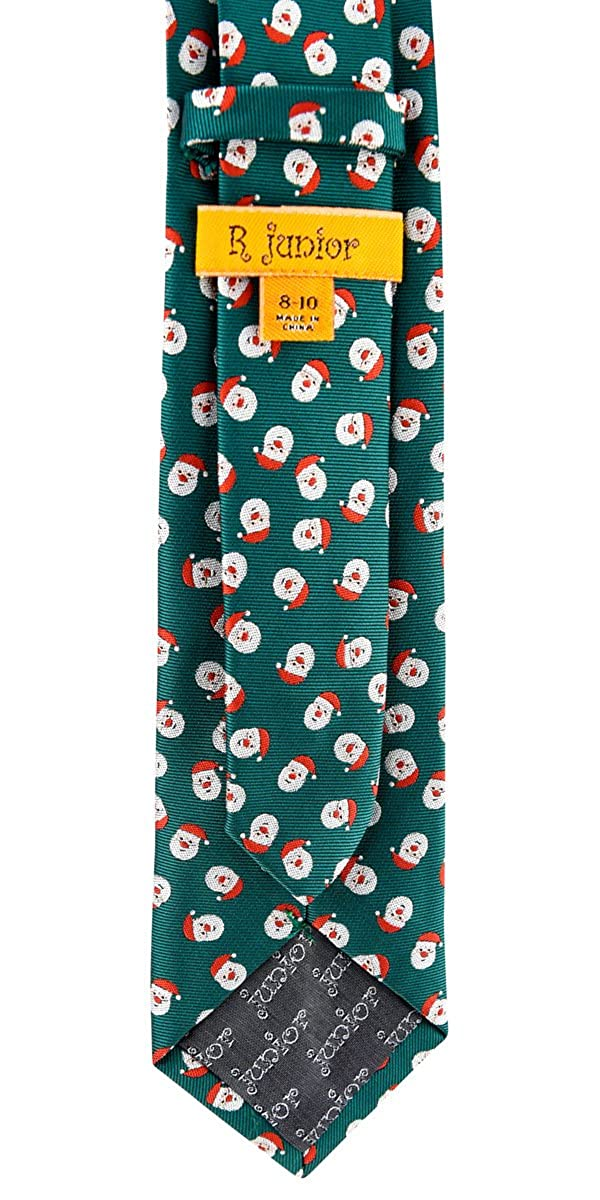 8-10 years Retreez Christmas Santa Claus Woven Microfiber Boys Tie
