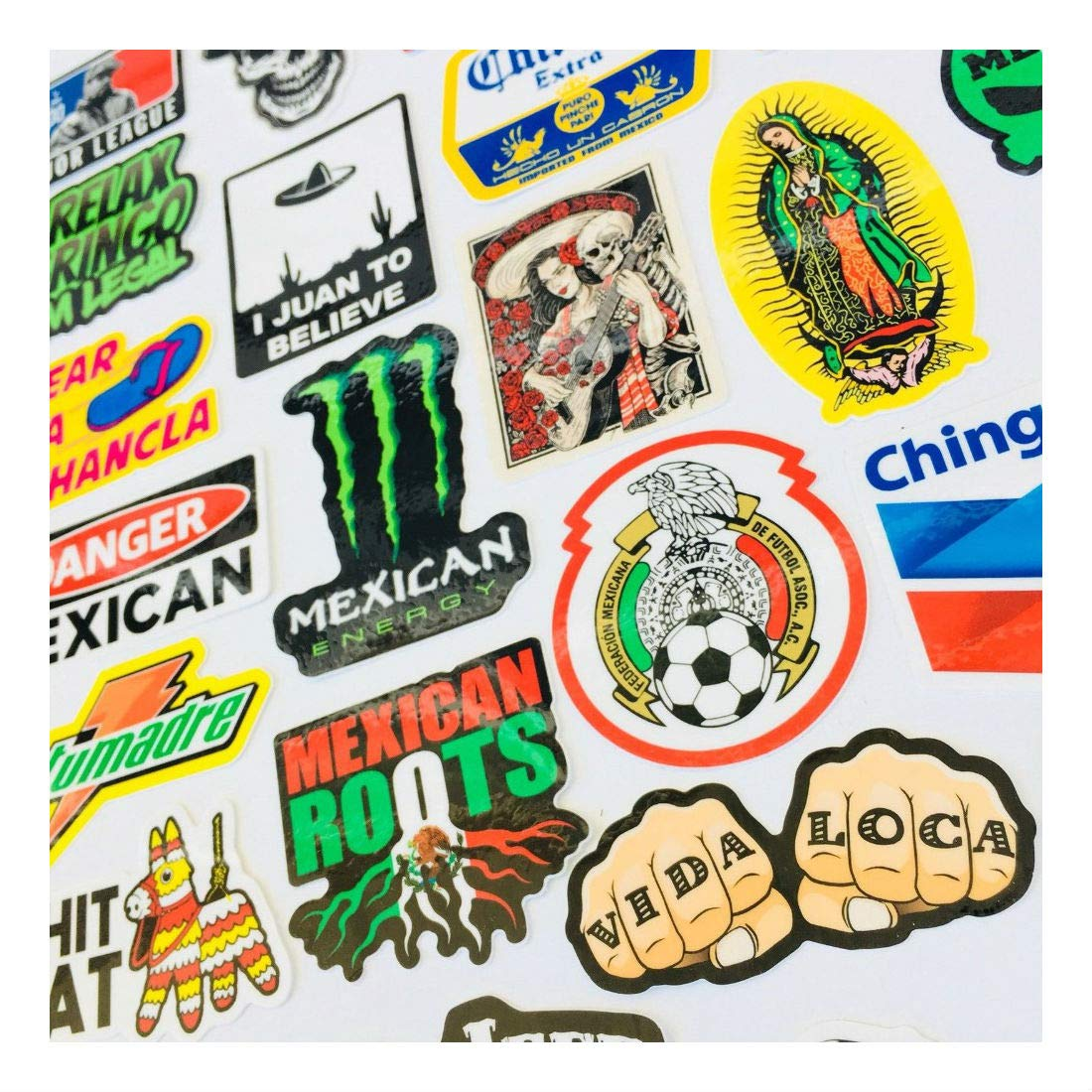 MEXICAN CHINGON Hard Hat Stickers 40 MEXICO HardHat Sticker Pegatinas cascos by Unknown (Image #5)