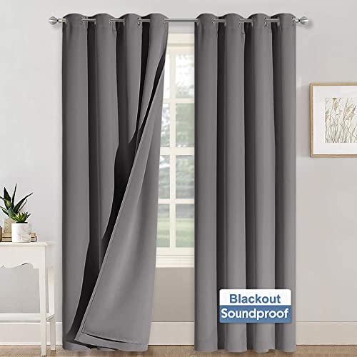 RYB HOME Soundproof Curtains Blackout