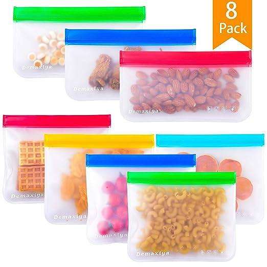 Bolsas de sándwich reutilizables Demaxiya, paquete de 8 ...