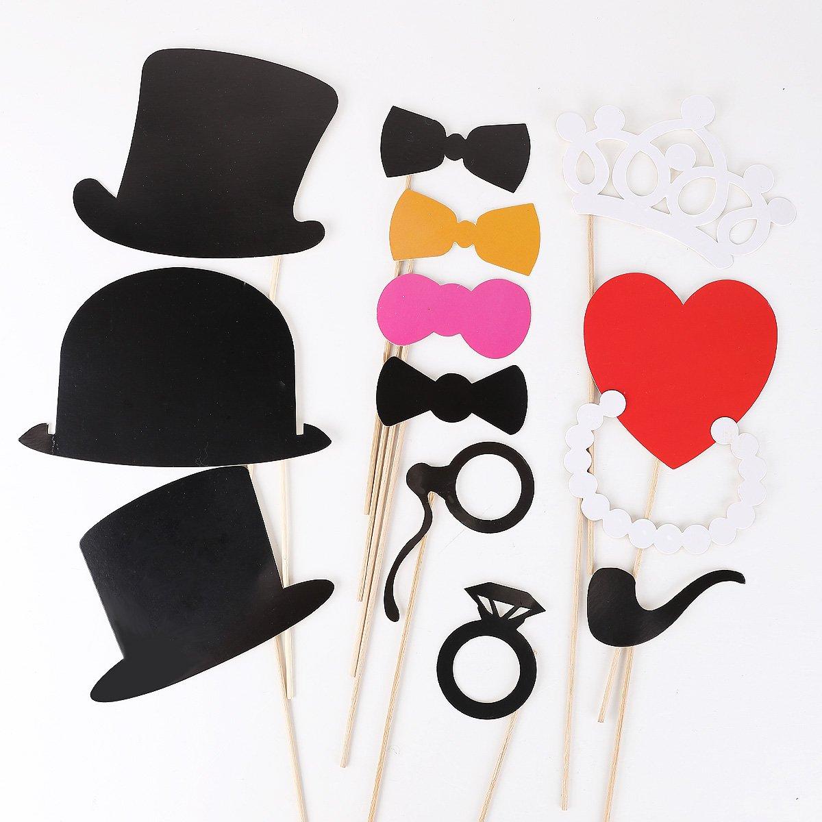 44pcs colorful props on a stick mustache photo booth amazoncouk camera u0026 photo