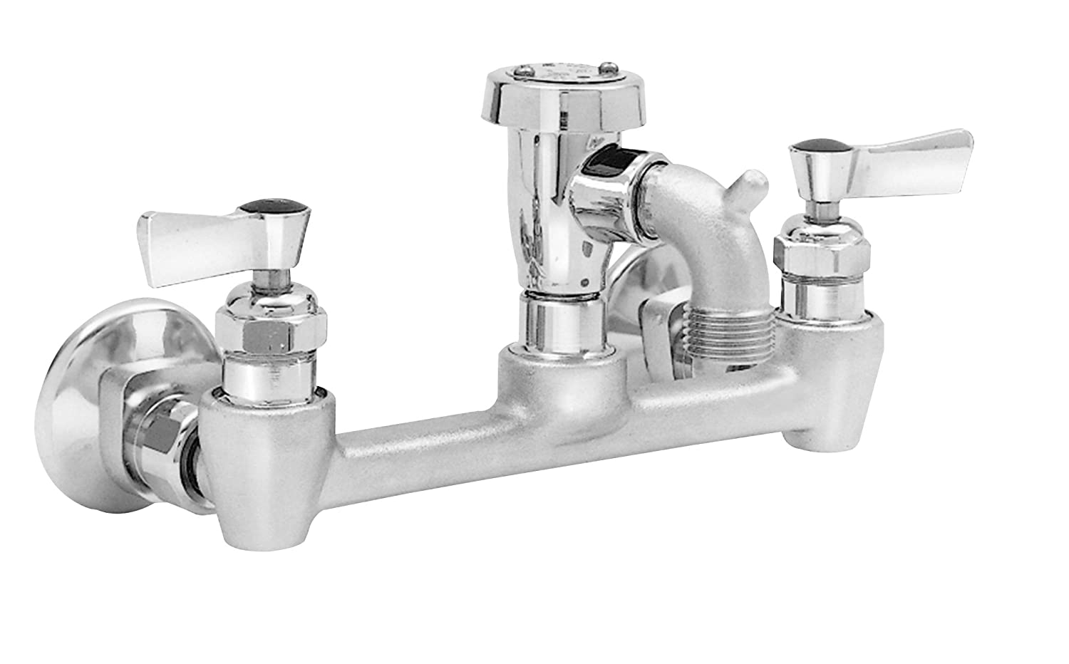 Fisher 19828 Adjustable Wall Mount Service Sink Faucet With Short Spout And Vacuum Breaker With Ez Install Adapters 8 Amazon Com Industrial Scientific
