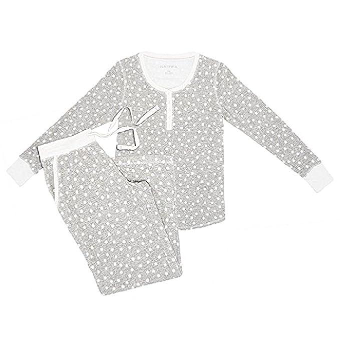 Nautica Women s 2 Piece Microfleece Pajama Set (XX-Large 9aacc737d