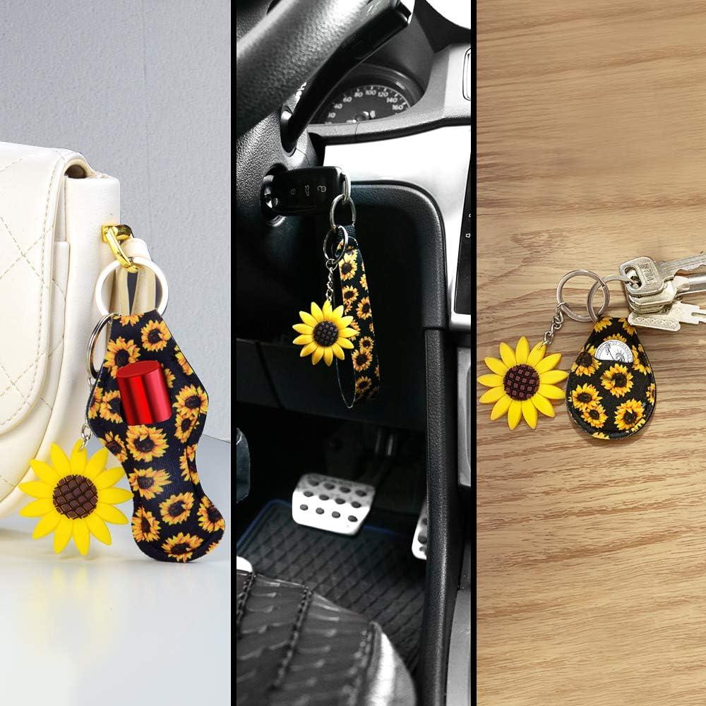 Key Chain Ring for Vehicle Keys Cute Car Accessories for Women Sunflower YR Car Keychians Automotive Keychain for Women /& Girls Set of 6