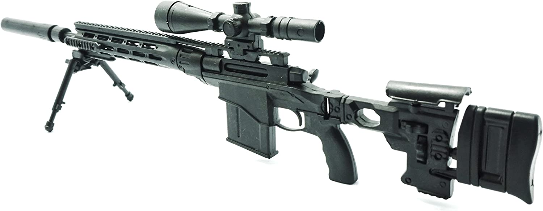 "1//6 1:6 Scale 12/"" Action Figure 4D Gun Model RemingtonMSR Modular Sniper Rifle"