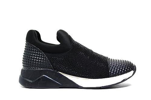 Lee Roy zapatillas de deporte de las mujeres negras, cuero NEGRO L391 nueva colección otoño invierno 2016 2017: Amazon.es: Zapatos y complementos