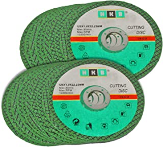 Green HKB® 20x Cutting Disc for Angle Grinders 125 x 1.0 x 22.23 for Stainless Steel/V2 A Steel for Mobile 61cc 13,300 RPM – Up to 80 m/S – Fast and Accurate, Manufacturer HKB® &nda