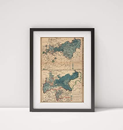 Map Of Germany 1919.Amazon Com 1919 Map Of Germany World War I Map German Nr 222