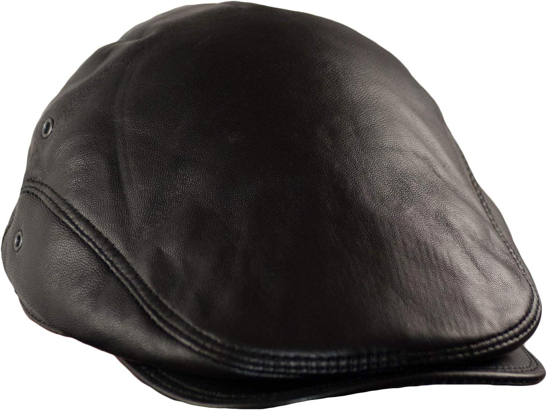 Dazoriginal Boina Cuero Casquillos Plano Gorra Piel Gatsby Sombrero Hombre Beret 55-64CM