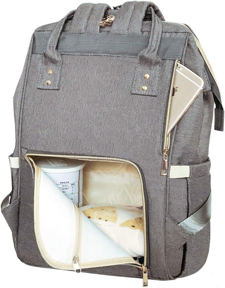 Hospital Maternity Bags Mom Dad Backpack Rucksack Girl /& Boy Large Capacity /& Wide Open Design /& Waterproof /& Keep Warming EZGO Land Baby Diaper Changing Bag Green