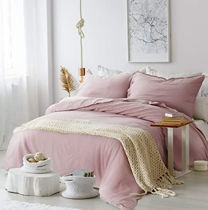 95d97f564d Hemau Premium New Soft 45% Cotton & 55% Linen Queen with 2 Pillow Sha -  Full Size(90