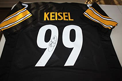 39eb574d9 Image Unavailable. Image not available for. Color  Pittsburgh Steelers Brett  Keisel  99 Autographed Signed Jersey All Pro Memorabilia JSA Certified
