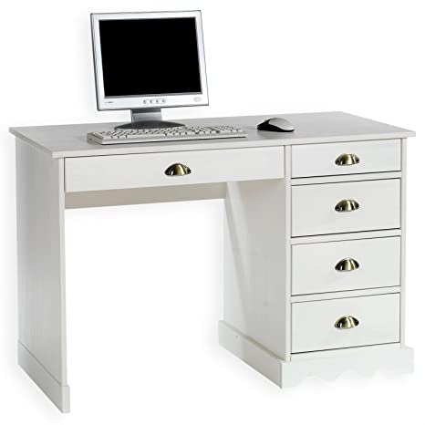 Schreibtisch weiß landhaus  IDIMEX Schreibtisch Bürotisch Colette, weiß, Landhausstil