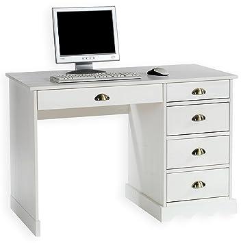 Idimex Schreibtisch Bürotisch Colette Weiß Landhausstil Amazonde