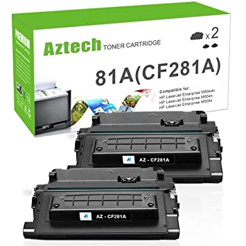 Aztech Compatible Toner Cartridge Replacement for HP 81A CF281A (Black, 2-Packs)