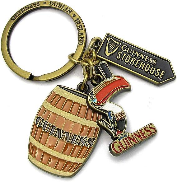 Enseigne et Barillet Breloques Officiel Guinness Multi-Charm Porte-Cl/és avec Toucan