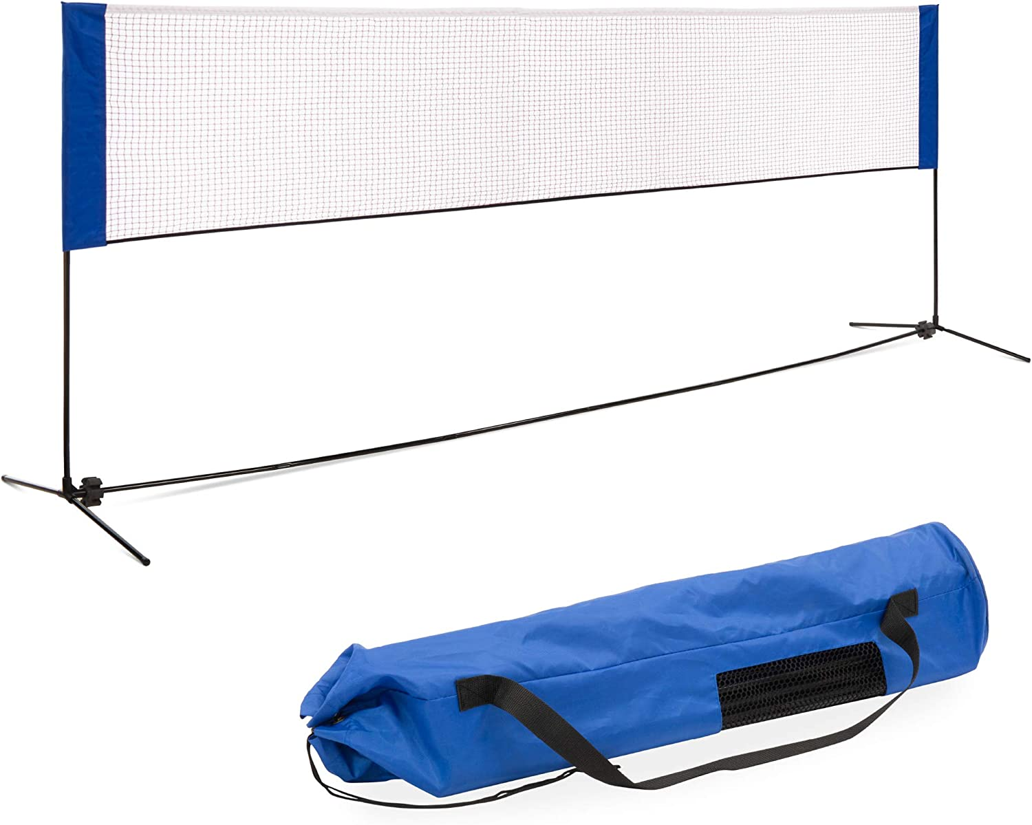 Adjustable Portable Foldable Badminton Tennis Volleyball Net Stand Carrying Bag
