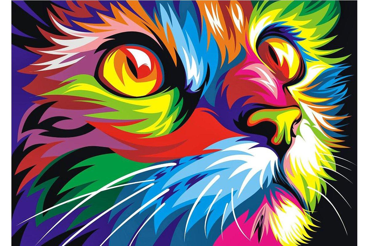 5D Pintura por Diamantes (5111) gato