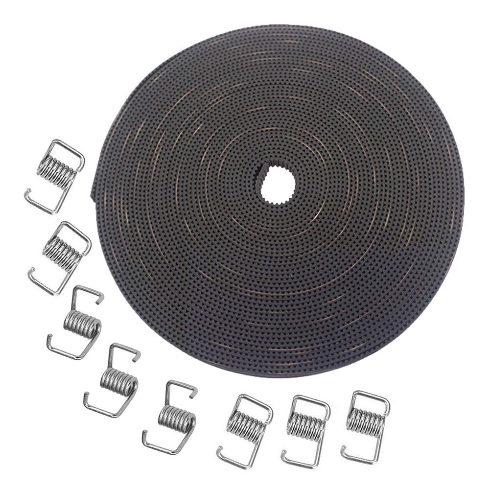 8pcs Tensioner Spring Torsion for 3D printer RepRap KeeYees 10M GT2 Rubber Timing Belt 6mm Width
