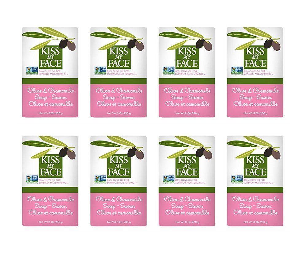 Kiss My Face Olive Oil & Chamomile Bar Soap 8 oz (Pack of 8)