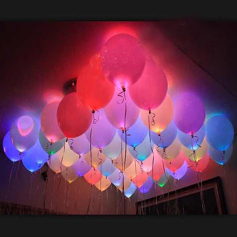 Amazon.com : Magnoloran Led Balloon Lights, 20 Pack Multicolor LED ...