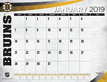 Boston Calendar 2019 Amazon.: Turner 1 Sport Boston Bruins 2019 22X17 Desk Calendar