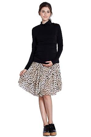 10cdee25aeec3 Sweet Mommy Fleece Lined Stripe Maternity and Nursing Turtleneck Top SBK  Size Small: Amazon.co.uk: Clothing