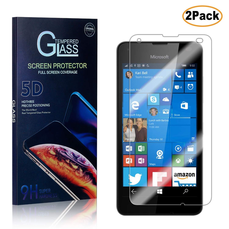 Microsoft Lumia 550 Ultra Thin Tempered Glass Screen Protector 2 Pack Bubble Free CUSKING Anti Fingerprint Screen Protector Glass for Microsoft Lumia 550