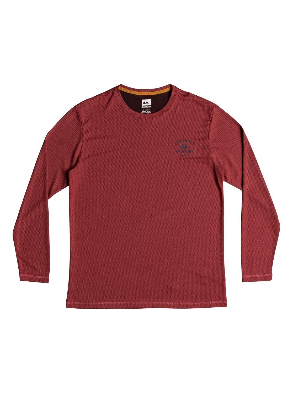Quiksilver Waterman Men's Gut Check LS 40+ UPF Long Sleeve Shirt, Cardinal, M