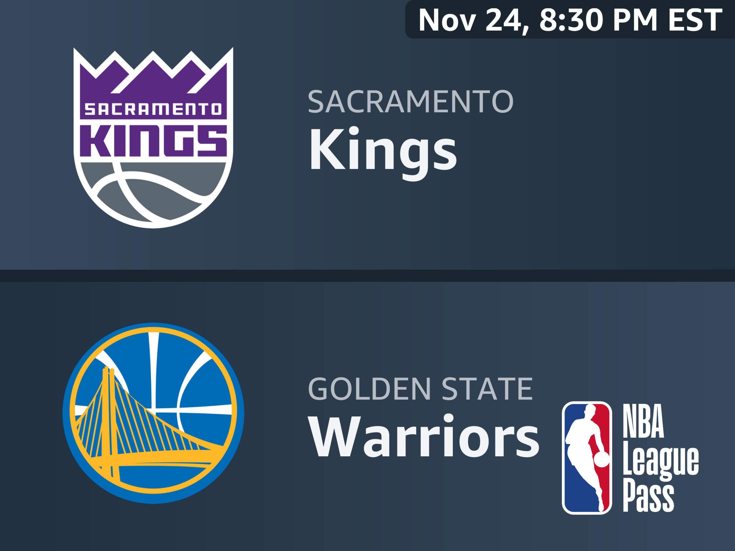 Amazon com: Watch Sacramento Kings vs  Golden State Warriors