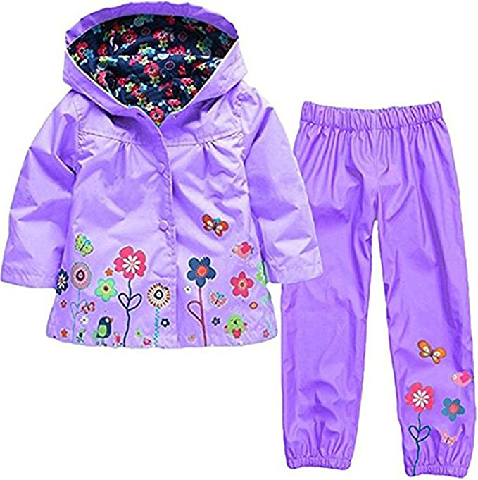 Children Rain Pants Waterproof Trousers Unisex Padded Rainwear Windproof Clothes