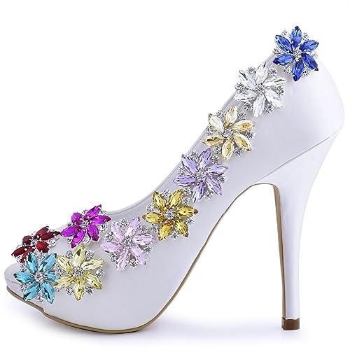 e68f6d9ed20db ElegantPark Shoes Dress Hat Accessories Fashion Rhinestones Crystal Shoe  Clips 2 Pcs Multi Color