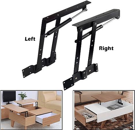 2pcs Folding Lift Up Top Coffee Table Lifting Frame Desk Mechanism