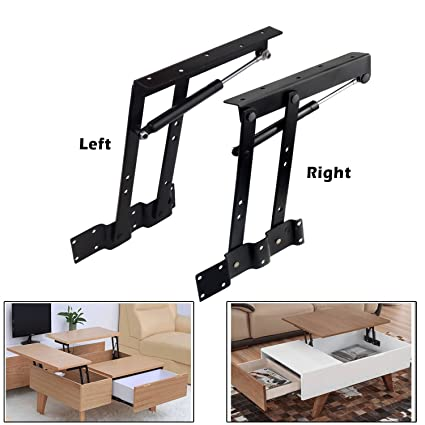 2pcs Folding Lift up Top Coffee Table Lifting Frame Desk Mechanism ...