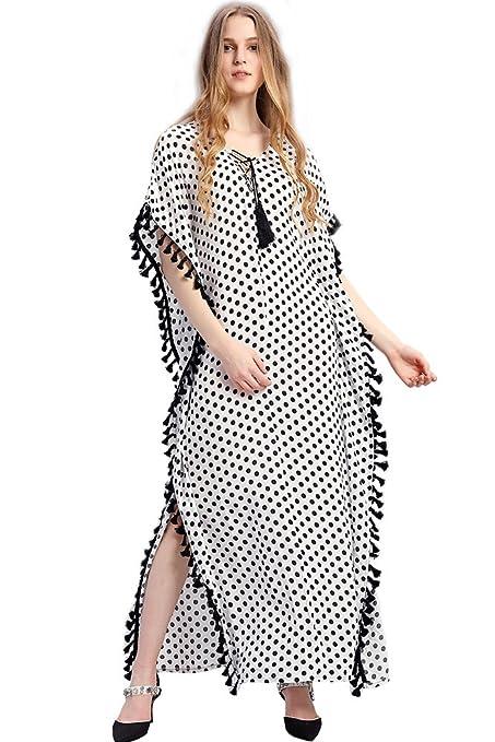 Casual Femmes Boho Style Robe à imprimé Floral Maxi Dress Musulman Casual Kaftan  Caftan  Amazon d48492af961